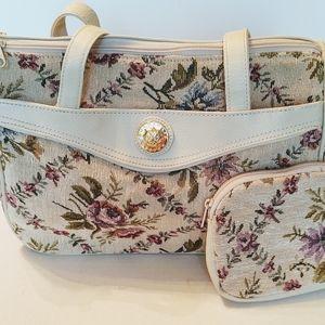 Retro Floral Mitzi Purse.  Like New. $35
